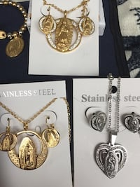 silver and gold stainless steel jewelry sets Clarksburg, 20871