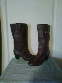 WOMENS BROWN LEATHER BOOTS