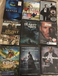 ASSORTED DVD's 1.00 EACH. AVATAR & EPIC SOLD