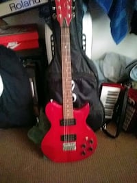red and black electric guitar Oakland, 94601