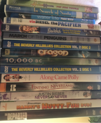 DVDs & Blu-ray's for $1/each Wylie