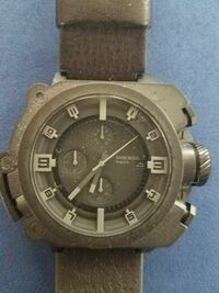 black-faced Diesel chronograph watch with leather  Crestview, 32539