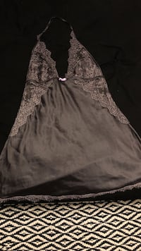 black floral embroidered halter top Gulf Shores, 36542