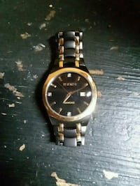 Black and gold elgin watch Topeka, 66604