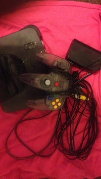 black Nintendo 64 console with corded controller Des Moines, 50317