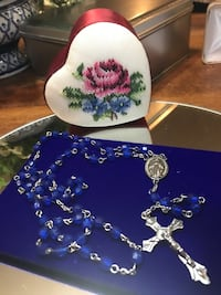 Beautiful!!! Silver Blue  Stone Rosary Gainesville, 20155