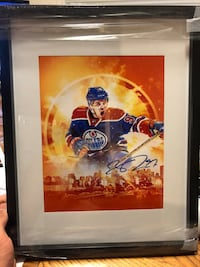 Framed Connor McDavid Art PRINT