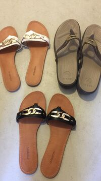 two pairs of brown and black sandals Fresno, 93727