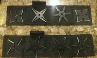 Set of 8 throwing stars with case