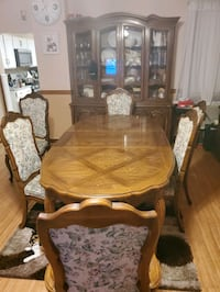 dining table with China cabinet