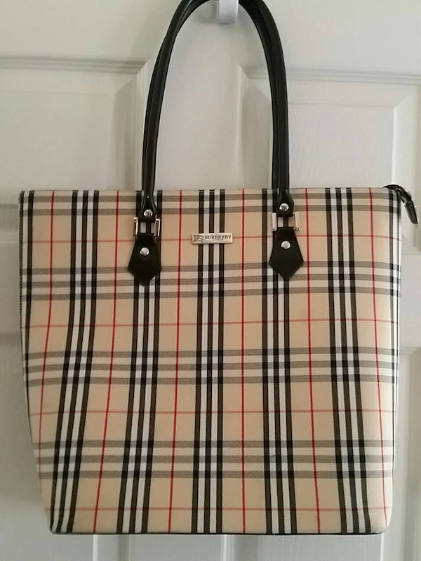 3c36b53f4 camel tartan leather Burberry tote bag. HomeFashion and Accessories Fort  Walton BeachUsed ...