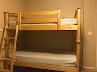 Twin size bunk bed with mattresses  Irvine, 92620