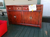 brown wooden 3-drawer chest Fort Worth, 76164