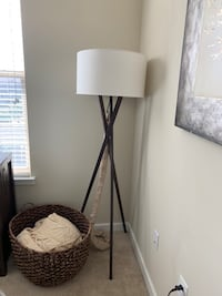 World Market Floor Lamp with Crate and Barrel Shade and plug cover Falls Church, 22042