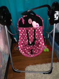 Baby's pink and black swing chair Chesapeake, 23324