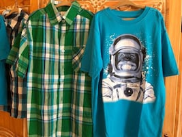 Plaid Shirt & T, Boys Size L 10/12