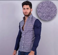 Wooden button shirt/camisa con boton de maderac308 Perth Amboy, 08861