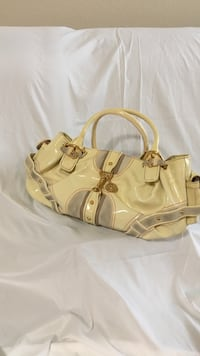 Beige leather handbag McKinney, 75071