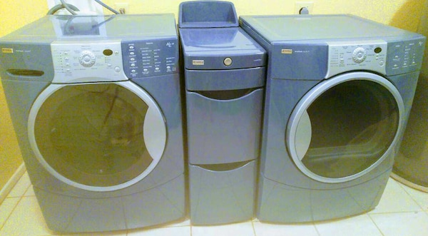 Kenmore Elite He4t Washer Dryer Matching Storage