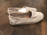 Pair of beige slip on shoes in box (7 1/2) Buffalo