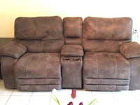 Comfortable sofa recliner 3 pieces with USB power outlet