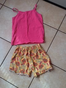 pink and yellow floral sleeveless dress