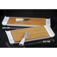 Verdici Cheese Cutting Board and Tray Maple