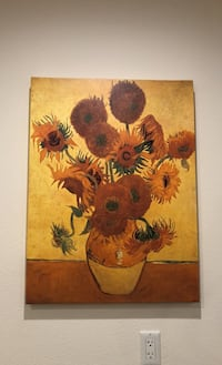 Sunflowers, by Van Gogh print on wrapped canvas