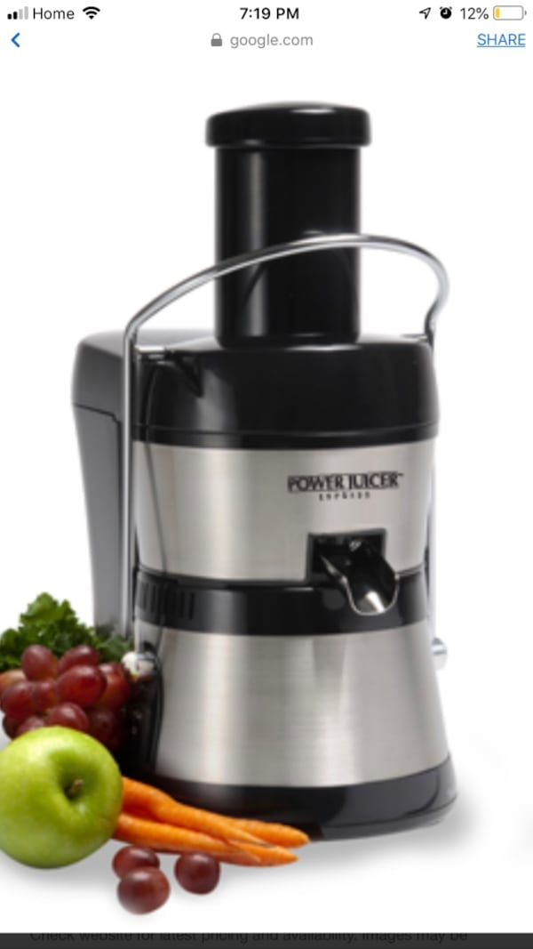 Power juicer(its not working because of missing parts) 6bd91d0c-d11f-4e8f-87a7-ff38a96a1616