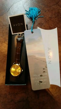 Avon Ftprints in the Sand watch and book mark. New Alexandria, 22310