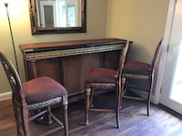 Granite top bar with matching bar stools