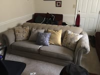 gray fabric sectional sofa with throw pillows Triangle, 22172