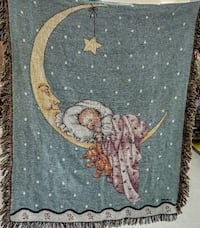 Man in the Moon Holding Baby Blanket