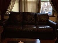 Brown leather 3-seat sofa Chicago, 60608