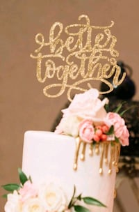Acrylic gold cake topper Mississauga, L4T 2Z2