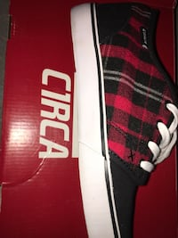 black and red plaid Circa low-top sneaker with bxo