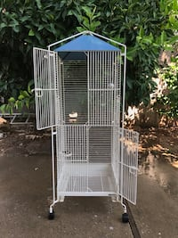 White metal wire pet cage Sacramento, 95831