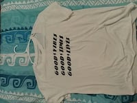 white Good Vibes, Times, and Lives-printed t-shirt Tucson, 85706