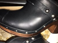 Black Leather Jolene Clogs Accokeek, 20607