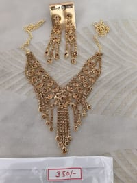 gold chained brown stone beaded necklace and earri Ahmedabad, 380028