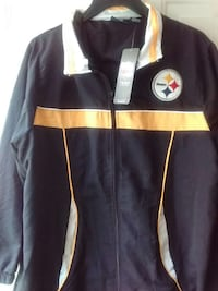 Women'sSize Medium, Mans small,  Steelers Fans Zip up Jacket Irwin, 15642