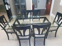 Glass dining table with 6 chairs Caledon, L7E 5S4