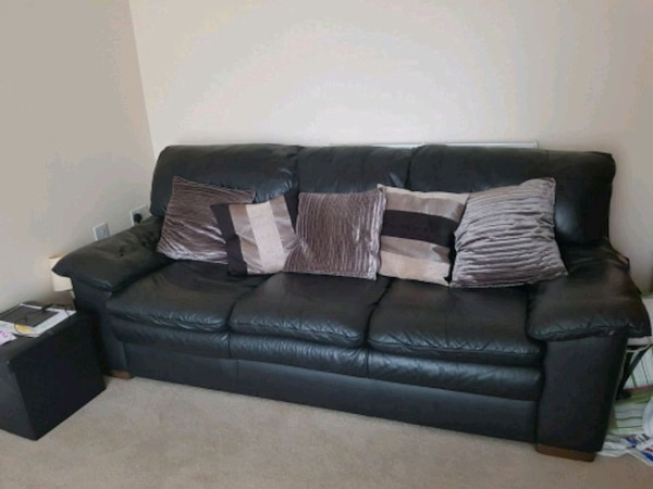 Used 3 seater leather sofa originally from DFS for sale in Broughton ...