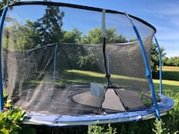Trampoline. 2 years old barely used, has double springs. You must take it apart and haul away 900 mi