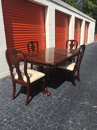 brown wooden dining table set Grovetown, 30813