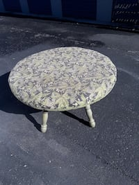 round green and black floral ottoman Tracy, 95376