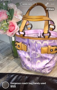 Gorgeous COACH*** bag barely used-clean smoke free home measurements 10.5 inches x10 inches London, N5W 6E2