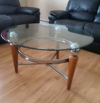 Glass & Stainless Steel Coffee Table  Edmonton, T6K 2P9