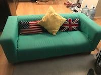 green leather 2-seat sofa Regina, S4V 1K7