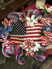 Red white and blue wreaths